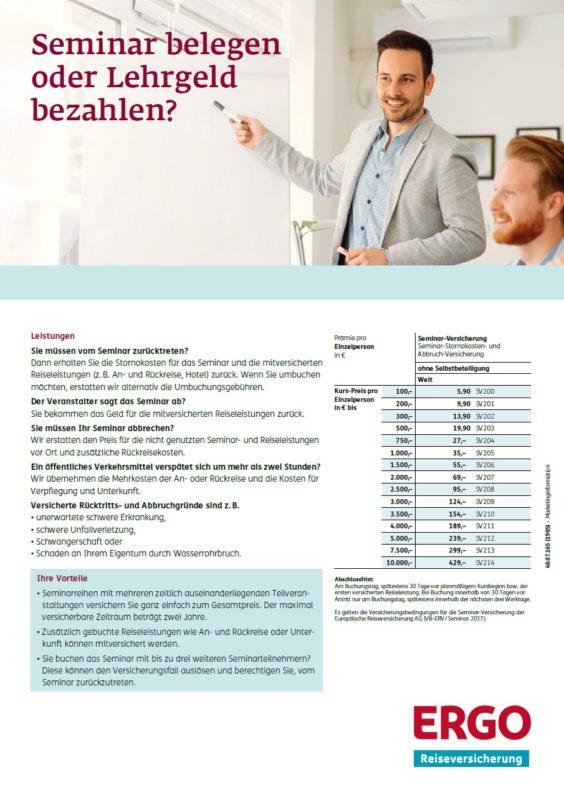 ERGO-Tarife-Reiseversicherung