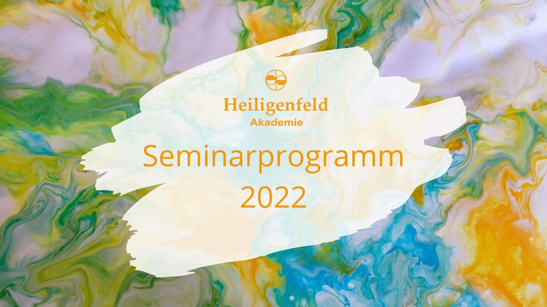 Seminarprogramm 2022 Schriftzug